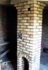 Кладка дымоходного стояка 4м, от газово-дровяной печи «Русь».