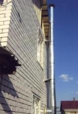 Монтаж камина «Викинг» и дымохода «Сэндвич» 6м.