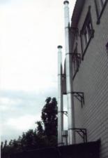 Монтаж дымоходов от газовых котлов «КОВ» 9м и 12м, диаметр 350. г. Саратов.