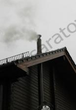 Монтаж дымохода КДМ от банной печи п.Усть-Курдюм