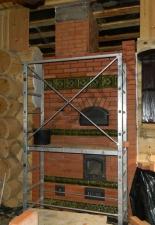 Перекладка разрушенного наружнего контура печи после не профессиональной работы плотнико при монтаже парной и крыши._25