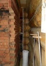 Перекладка разрушенного наружнего контура печи после не профессиональной работы плотнико при монтаже парной и крыши._4