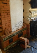 Перекладка разрушенного наружнего контура печи после не профессиональной работы плотнико при монтаже парной и крыши._5