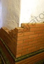 Перекладка разрушенного наружнего контура печи после не профессиональной работы плотнико при монтаже парной и крыши._7