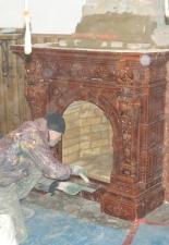 Ремонт изразцового камина с.Кошели