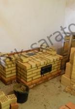 Пристенный открытый камин п.Усть-Курдюм