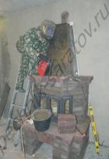 Пристенный камин с эркерной дверкой SVT г.Саратов