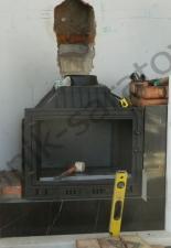 Пристенный мраморный портал с каминной кассетой Саратовский район,Новогусельский посёлок.