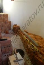 Угловой камин под отделку п.Волжская заводь