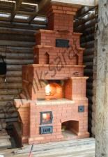Русская печь с плитой 4 с.М.Тополёвка