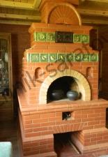 Русская классическая печь с изразцами г.Саратов