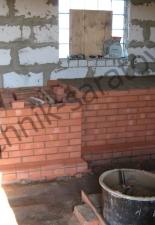 Русская печь с низкой лежанкой пгт Лысые Горы,Саратовская обл.