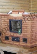 Угловая отопительная печь с хлебной камерой г.Саратов