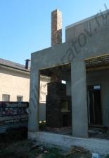 Уличный камин-шашлычница п.Волжская заводь