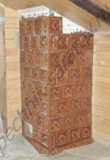Облицовка дымохода печными изразцами село Усть-Курдюм