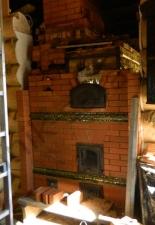Перекладка разрушенного наружнего контура печи после не профессиональной работы плотнико при монтаже парной и крыши._18