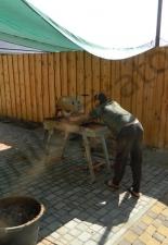 Перекладка разрушенного наружнего контура печи после не профессиональной работы плотнико при монтаже парной и крыши._8