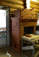 Установка каминной кассеты в кафе б/о