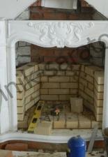 Пристенный открытый камин