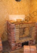 Пристенный камин под отделку с.Золотое,Саратовская область