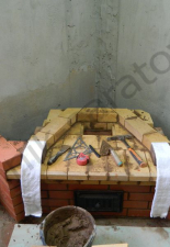 Угловой камин,п.Новая Усмань,Воронежская область