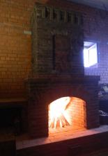 Пристенный камин с наружним дымоходом п.Родные просторы