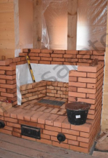 Камин под отделку,дымоход КДМ трёхконтурный