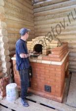 Русская печь с плитой 1 с.М.Тополёвка