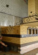 Русская печь с изразцами на деревянном опечье В.Стрелковкаа,г.Саратов