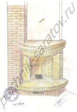 Эскизы и проекты каминов