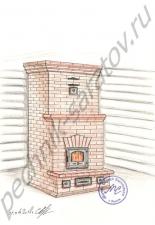 Эскизы и проекты отопительных печей