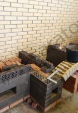 Кухонный комплекс:русская мини-печь,коптильня,казан село Шумейка