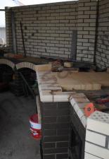 Мини русская печь с казанницей и коптильней п.Волжская заводь