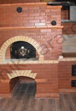 Мини русская печь с казанницей база отдыха с.Сабуровка